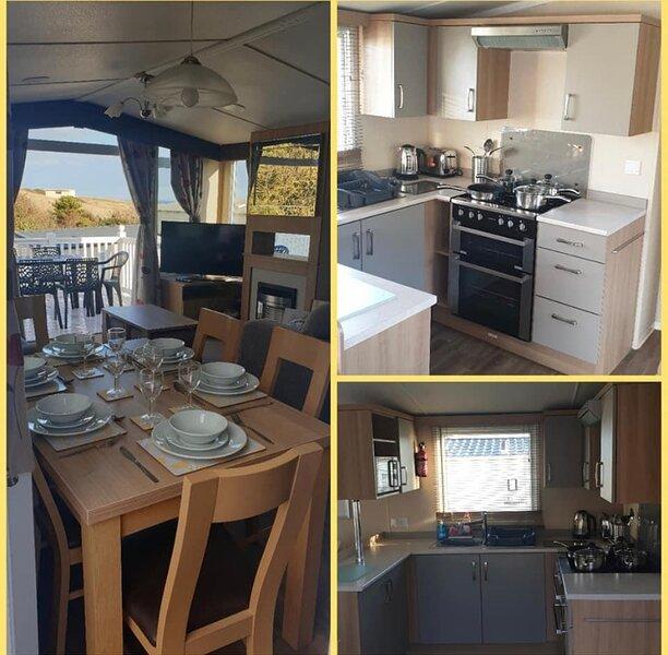 Deluxe Caravan, Seaview, Full Wraparound Decking, Devon Cliffs,, holiday rental in Lympstone