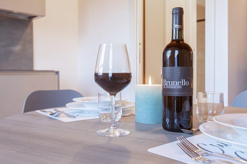 Apartment Tarassaco in Montalcino, Tuscany, alquiler vacacional en Castelnuovo dell'Abate
