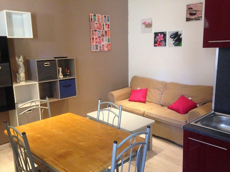 Appartement T2 meublé classé 2** 31m2 climatisé pour curistes ou vacanciers, location de vacances à Lamalou-les-Bains