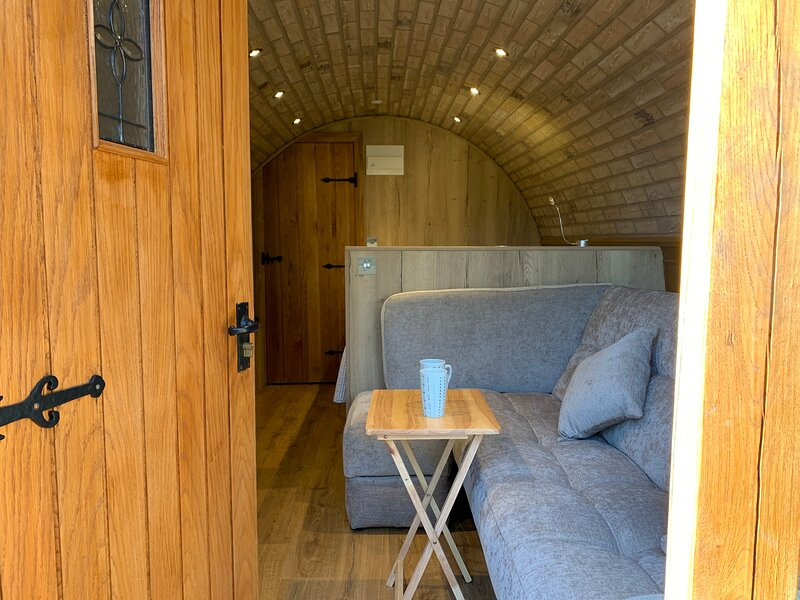 Brand new to Sheppey Hobbit style glamping pod, holiday rental in Minster on Sea