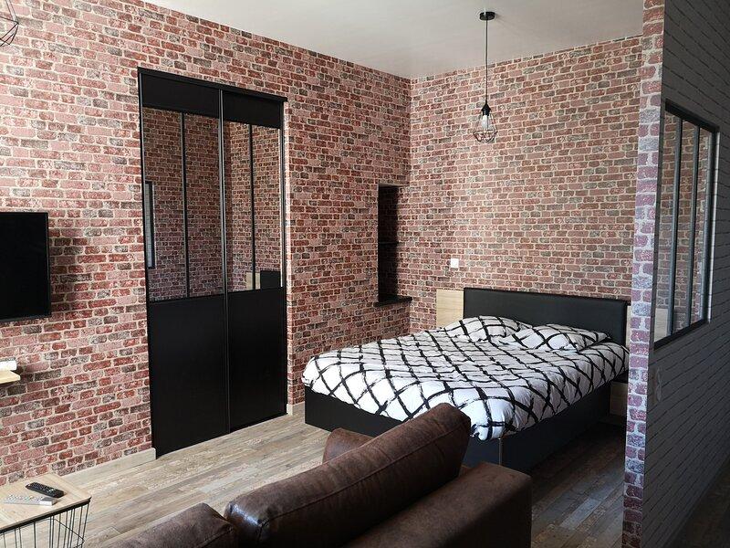 Joli appartement rénové sur le thème industriel, alquiler vacacional en Chinon