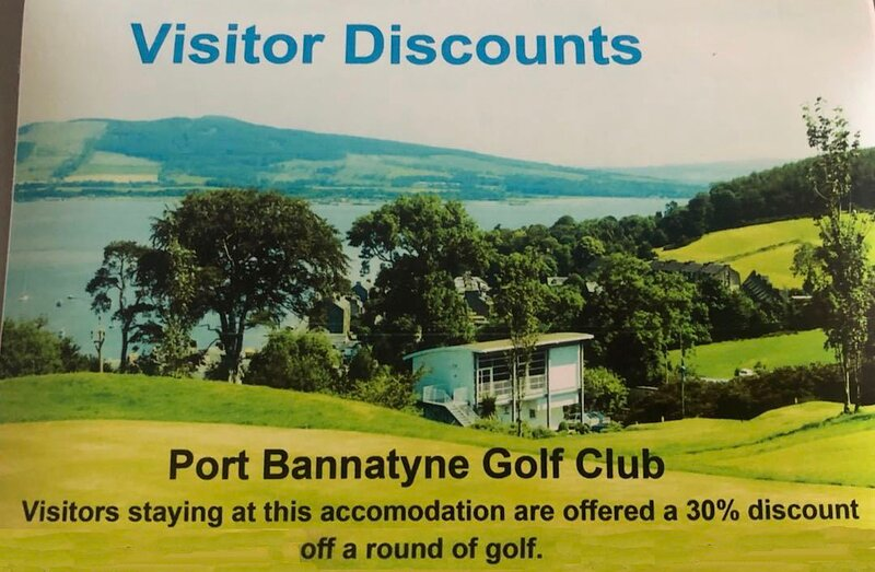 Discount is available at Port Bannatyne Golf Club for guests staying at this cottage.