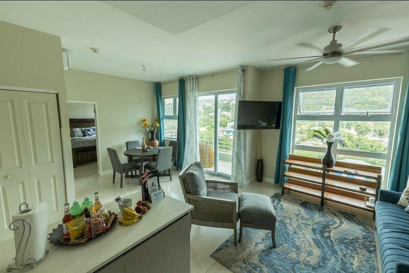 'The Oasis' Penthouse 1BR w/ AC WiFi & 24/7 security, location de vacances à Harbour View