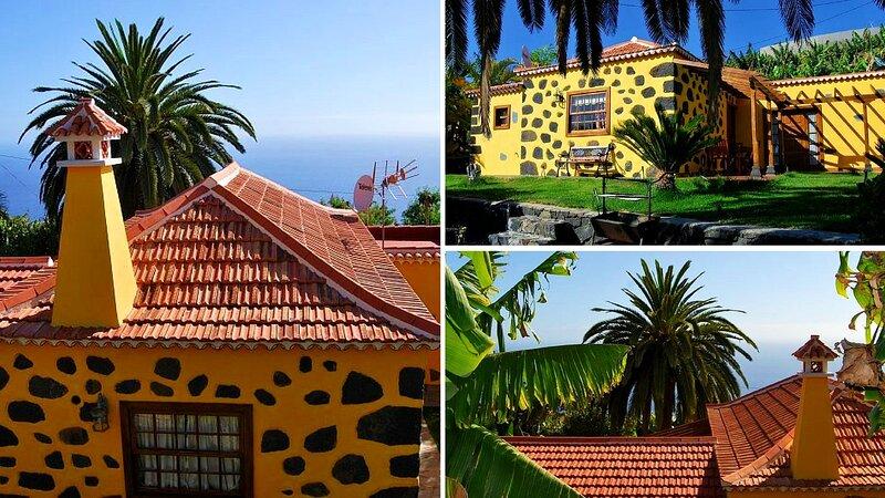 Casa Fernando, un lugar excepcional para el descanso total con vistas al mar., aluguéis de temporada em Tijarafe