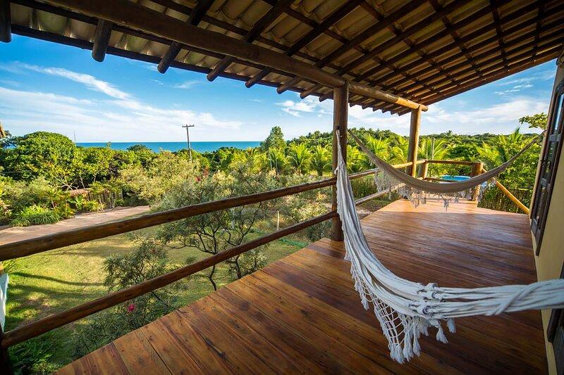 Linda Casa com terraço, Wifi e uma Vista Incrível!, aluguéis de temporada em Trancoso