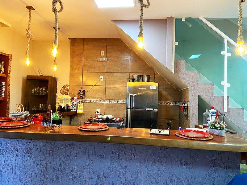 Casa beira-mar com churrasqueira e Wi-Fi em Angra, location de vacances à Pontal