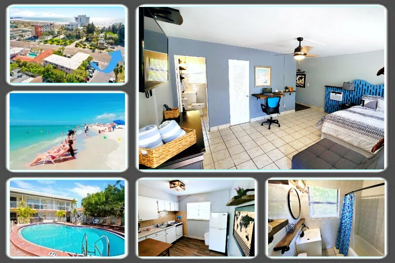 Boutique Beach Retreat get-a-way. Just steps from the beach, Gulf of Mexico in Treasure Island, FL.