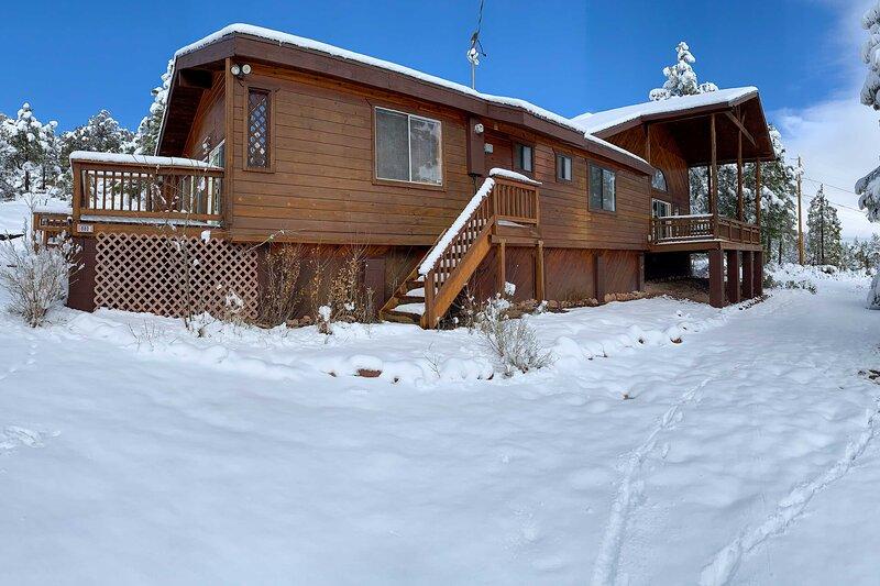Cabin Exterior in Winter