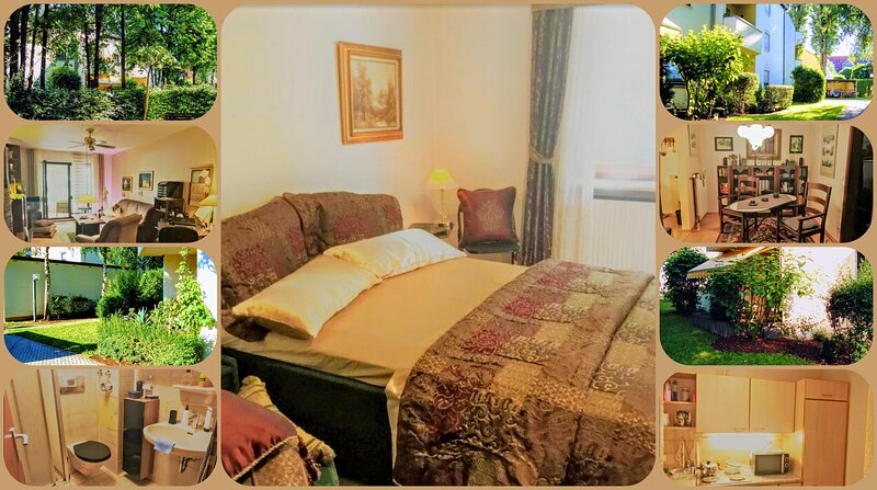 Fully Furnished inmitten Greenery - Holi Homes Two and a Half Rooms in the City, location de vacances à Neustadt an der Donau