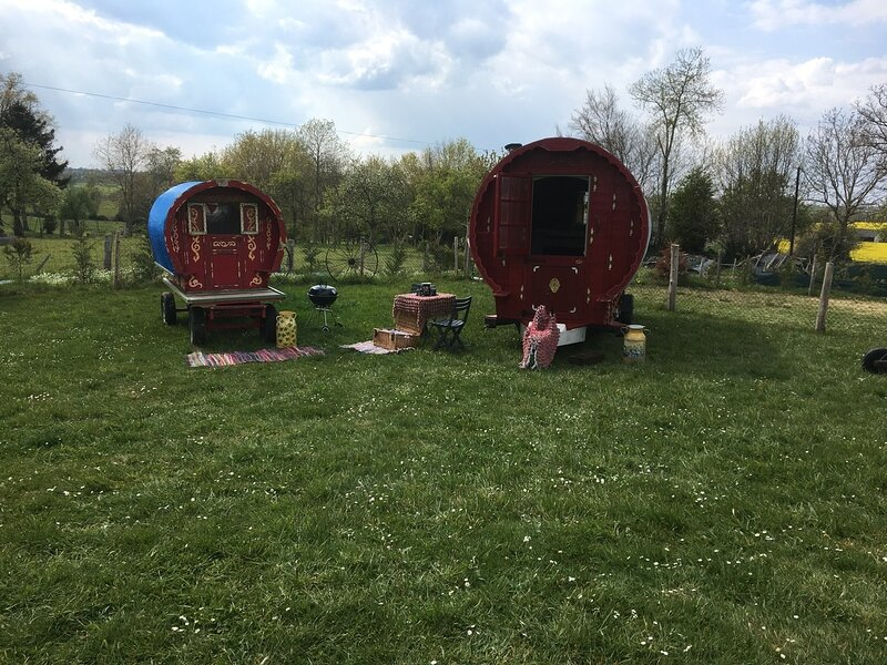 Bow top wagon ( pesha) in PassVillages, holiday rental in Le Teilleul