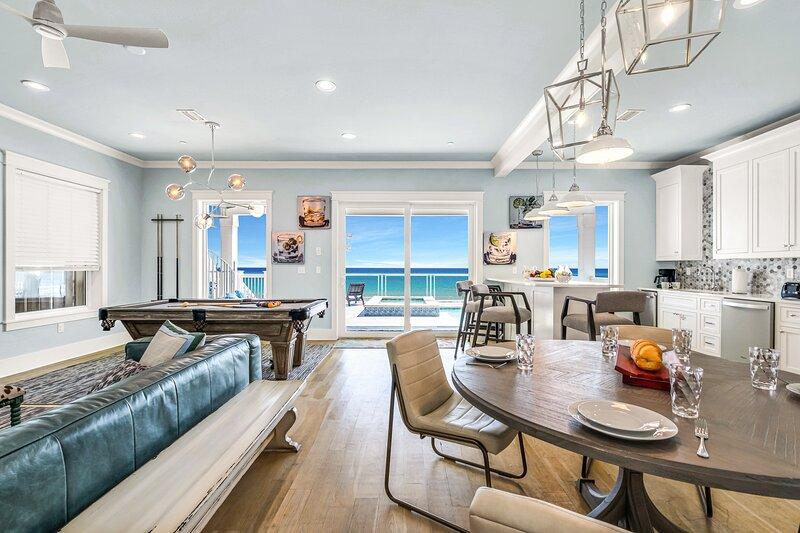 1st floor kitchen, living, recreation area