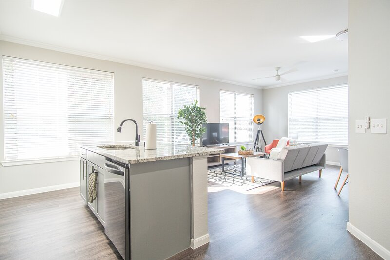 Corner Unit! 2BR Downtown   Gym, Pool, Parking, holiday rental in Cockrell Hill