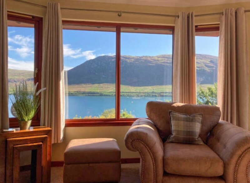 Cottage with amazing views of Loch Broom, holiday rental in Little Loch Broom