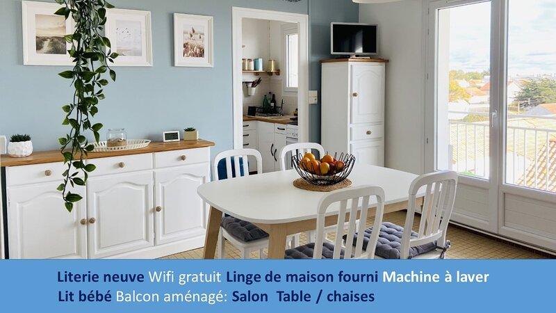 Appartement avec Vue Magique sur la Mer, holiday rental in La Barre-de-Monts