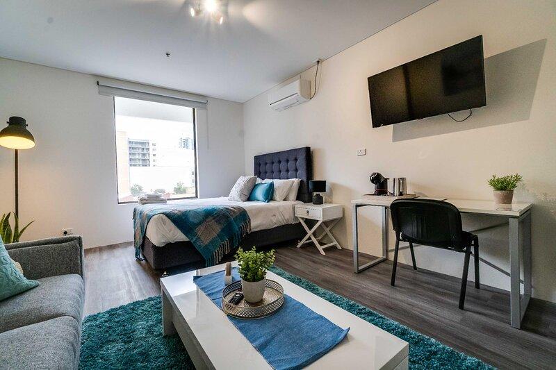 206 Funky CBD Studio, Apple TV complete reno, aluguéis de temporada em Perth