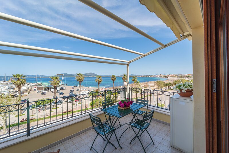 seaview terrace with table and chairs