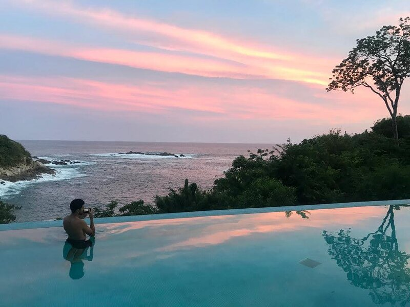 Enjoy the warm ocean front lap pool and evening skies