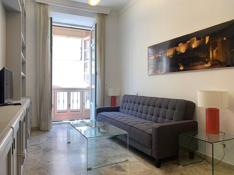 Elegante y tranquilo en calle Cister vista a Catedral. WIFI,Ascensor,playa,museo, alquiler de vacaciones en Málaga