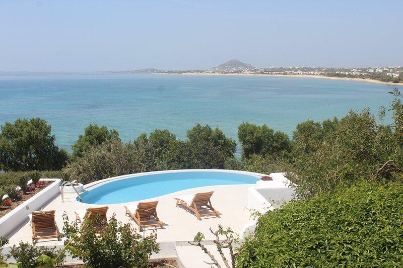 Villa 'Blue' infinity Pool - Villa Paradise Hotel Naxos, location de vacances à Naxos (ville)