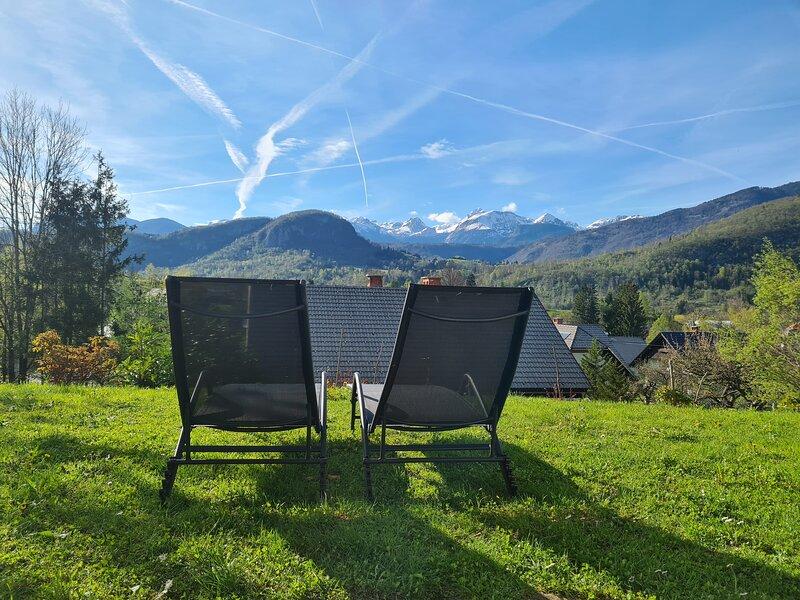 Views on Alps &Triglav + P+walking distance to groceries, Aquapark Bohinj, holiday rental in Ribcev Laz