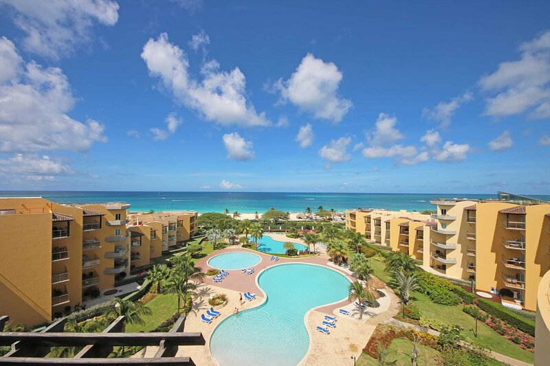 Welcome to Oceania Deluxe Beachfront Condo resort, steps from EAGLE BEACH