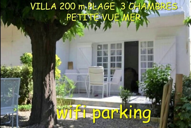 VILLA 200 m PLAGE PTT VUE MER PARKING WIFI CALME, location de vacances à Saint-Pierre-la-Mer