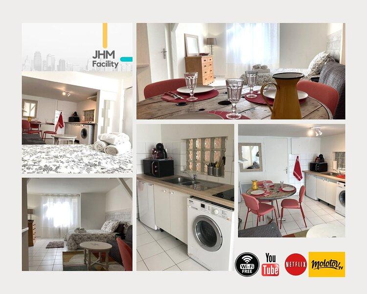 Charmant studio au calme et en plein centre ville de Saint Arnoult, alquiler vacacional en Rambouillet