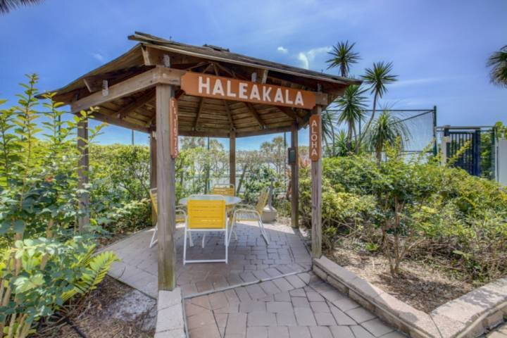 House of Sun Tiki hut for relaxing in the shade while just steps from the beach!