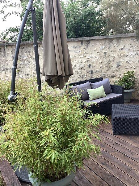Maison de vacances entièrement équipée avec jardin de 1000m2 Balneo et wifi free, holiday rental in Vaux-sur-Seine