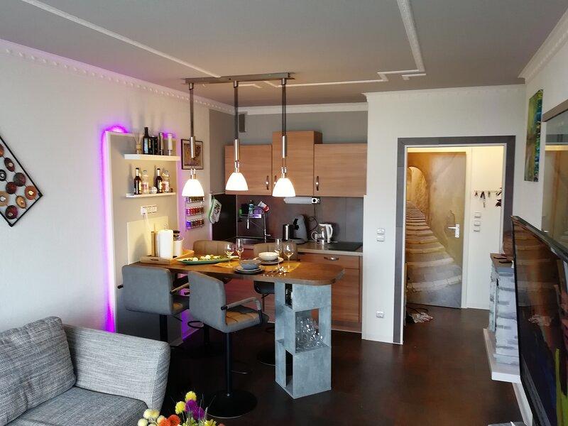 Best-Preis Ferienwohnung -Abendsonne- für max. 3 Personen mit 2x TV, WLAN, Kamin, holiday rental in Hahnenklee-Bockswiese