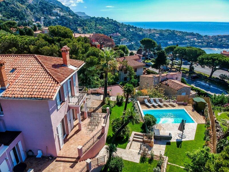 Beautiful Belle Epoque Villa with Panoramic view, aluguéis de temporada em Villefranche-sur-Mer
