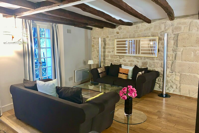 Amazing 2 bedroom apartment near the Seine in the famous 5th, holiday rental in Boulogne-Billancourt