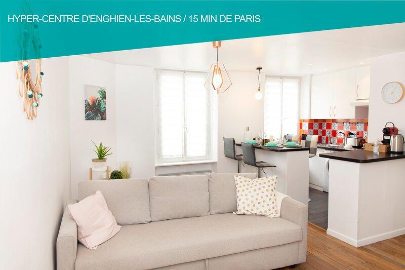 ❤❤Cœur de ville ★2 Pièces Lumineux★15min Paris❤❤, location de vacances à Baillet-en-France