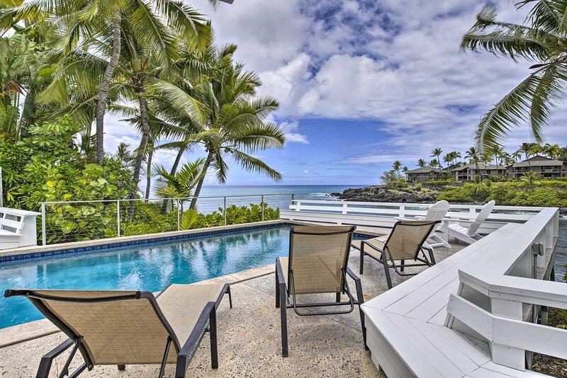 NEW! Ocean-View Kailua-Kona Escape w/ Private Pool, holiday rental in Kahaluu-Keauhou