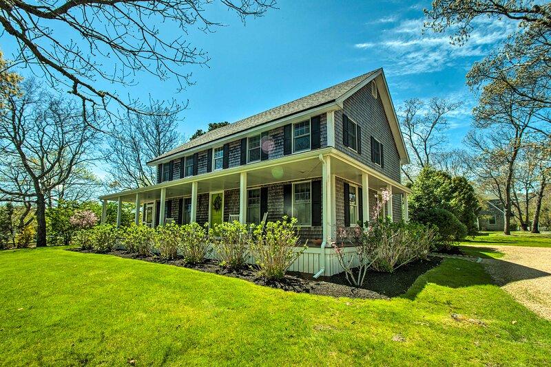 A quintessential Martha's Vineyard getaway awaits at this vacation rental home.