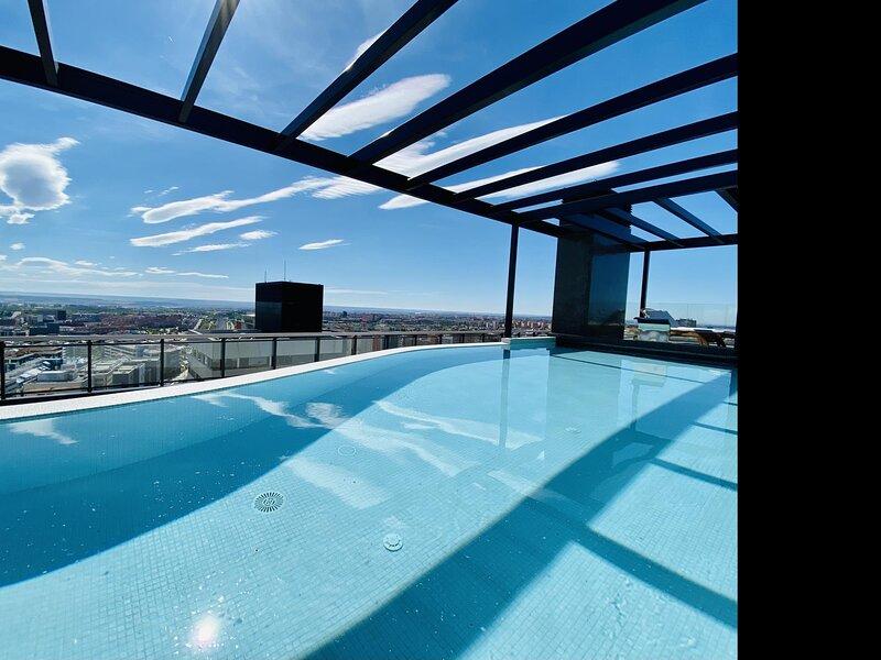 Charming Australis Tower - In luxury urbanization, swimming pools, parking, padd, alquiler de vacaciones en Colmenar Viejo