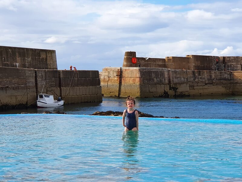 Outdoor pool at Portknockie