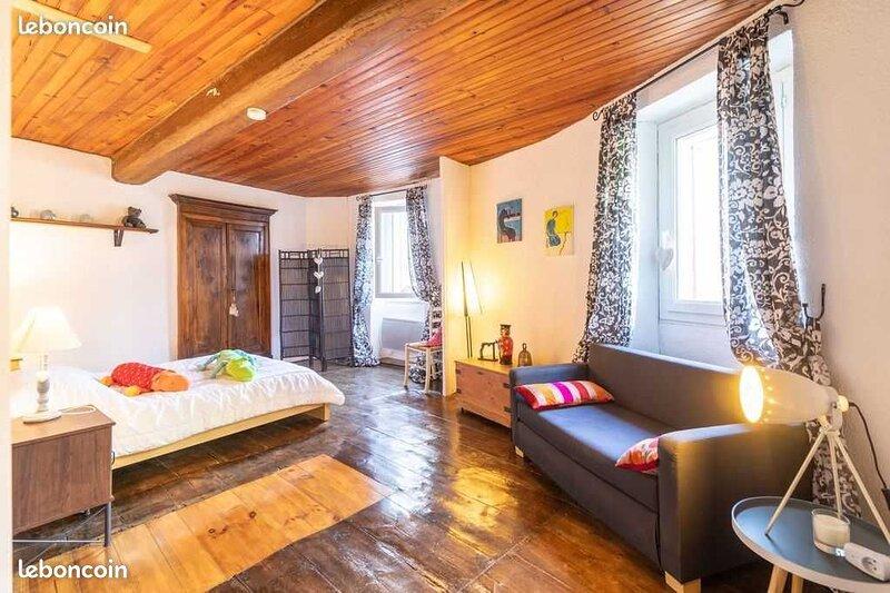 Maison de Village atypique, holiday rental in Rigarda