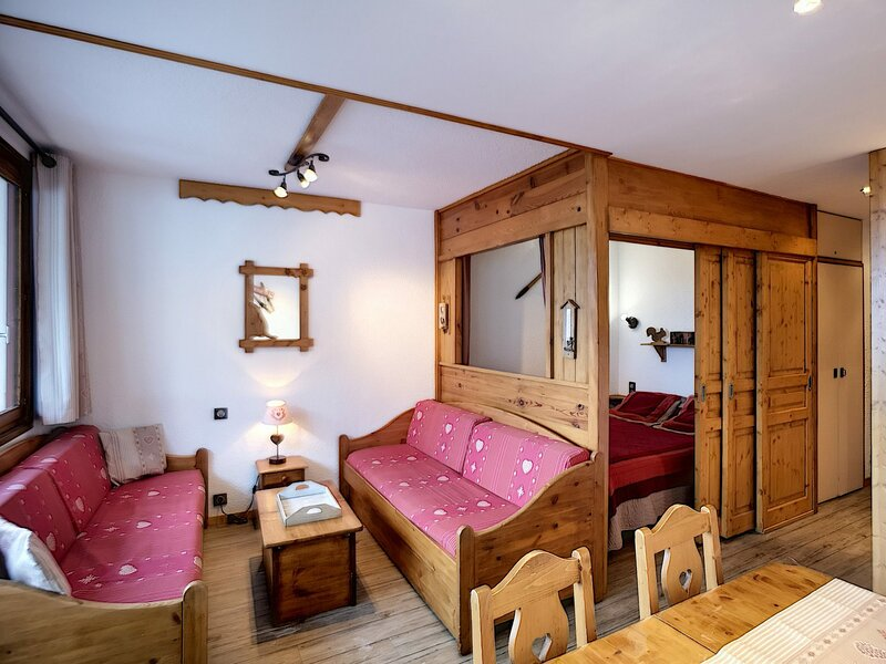 BOEDETTE A 604 Agréable 2 pièces cabine 6 pers 30m²  expo sud, holiday rental in Les Bruyeres