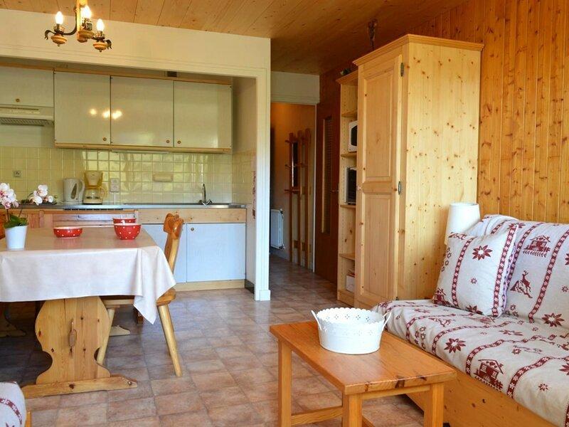 Appt 2 pièces 6 couchages GRAND BORNAND, location de vacances à Brizon