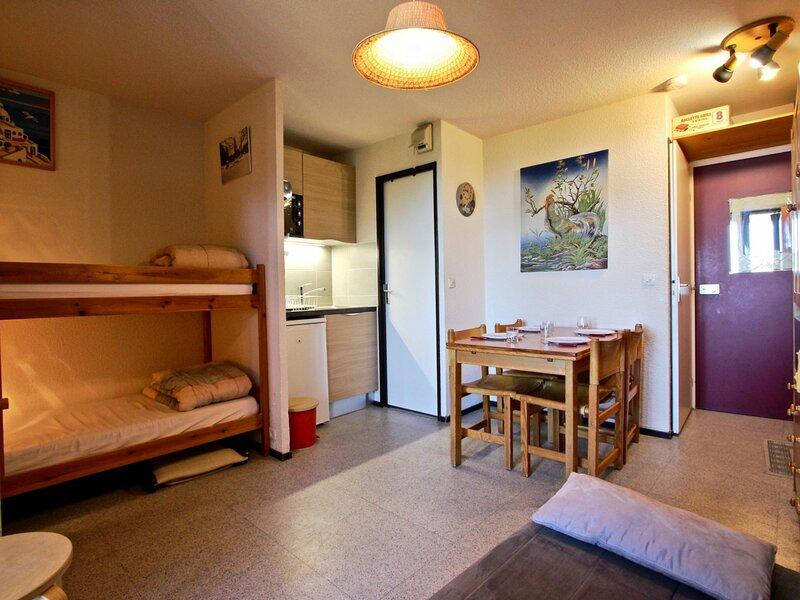 Studio cabine 4 places au pied des piste avec belle vue vallée., alquiler de vacaciones en Chamrousse