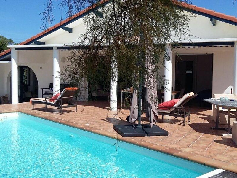 Villa 8 pers avec piscine Vieux-Boucau, location de vacances à Vieux-Boucau-les-Bains