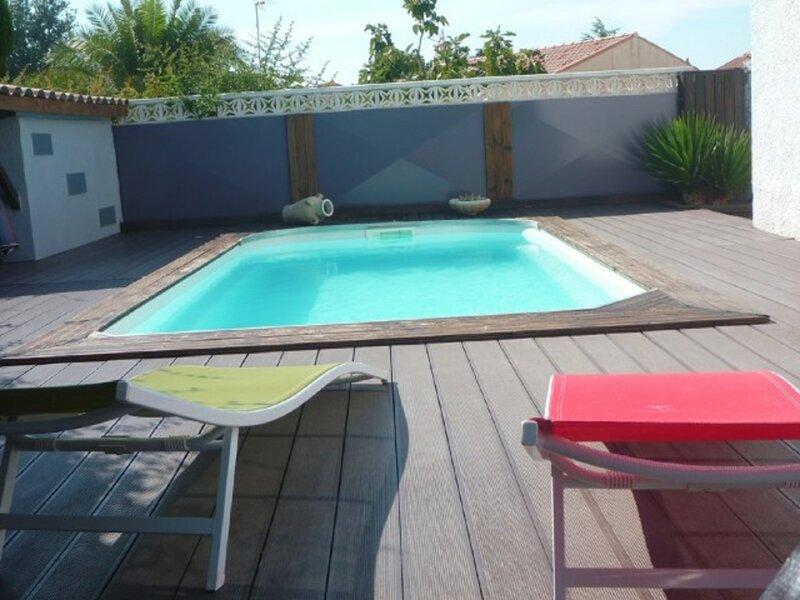 Belle villa pour 8 personnes avec piscine privée, wifi et clim, holiday rental in Florensac