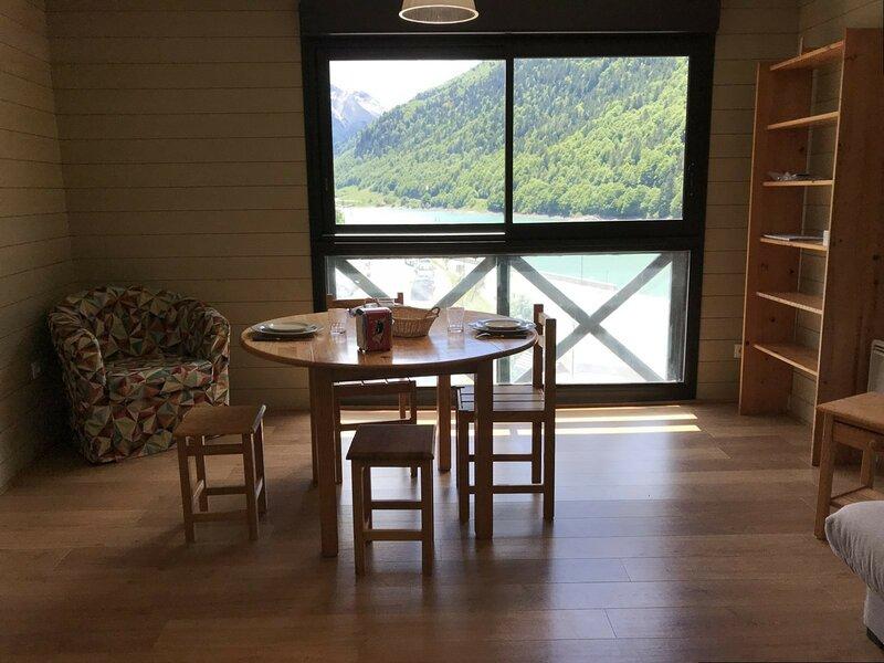 Studio 4 personnes, résidence Fario, vue sur le lac., holiday rental in Gourette