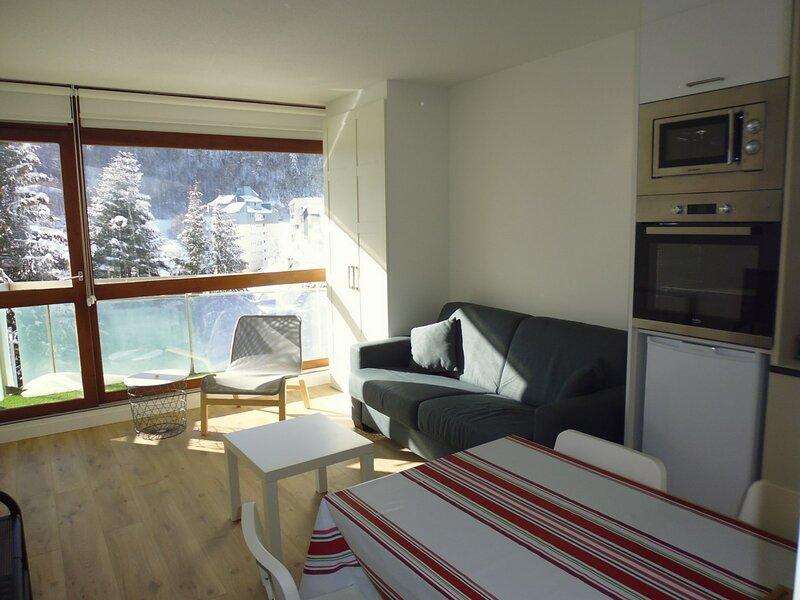 Studio 30 m2 , 6 couchages à proximité des pistes, aluguéis de temporada em Beost