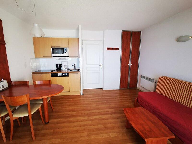 PIC DU MIDI - STUDIO CABINE 4 PERSONNES AVEC PARKING COUVERT, holiday rental in La Mongie
