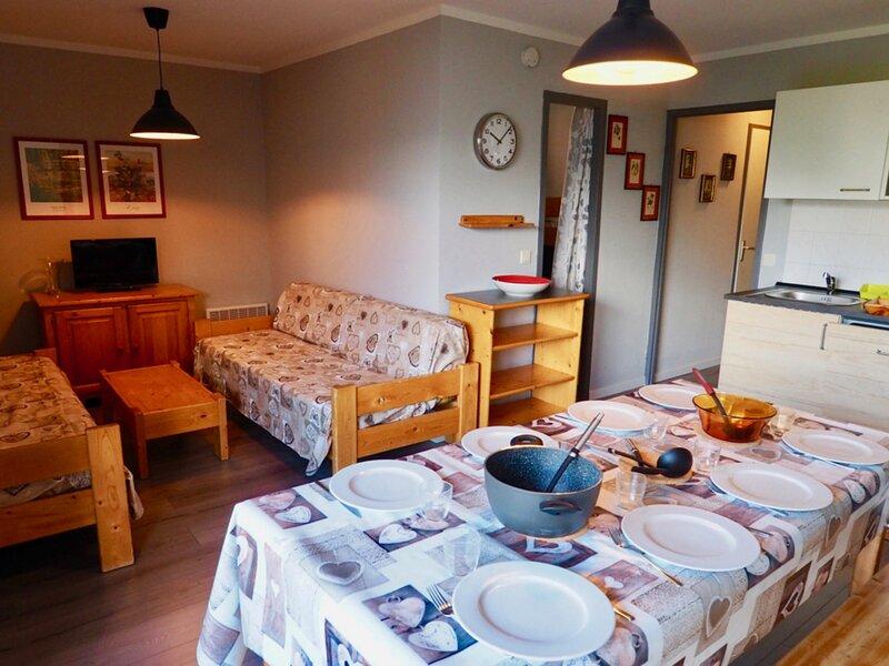 bel appartement 8 personnes rénové centre station, holiday rental in Valfrejus