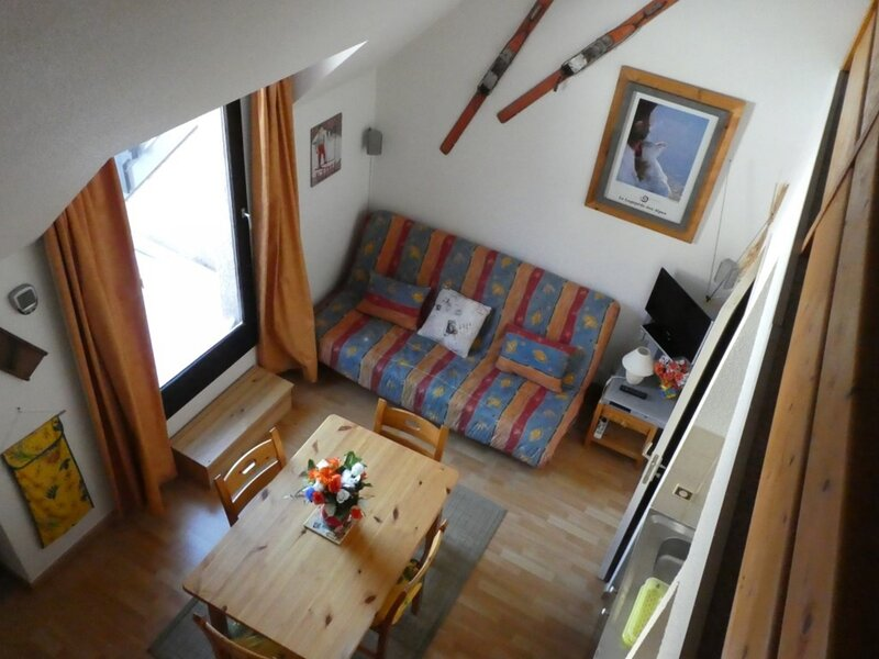 studio duplex 4 personnes pied des pistes 445C La Comète Réallon, alquiler de vacaciones en Reallon