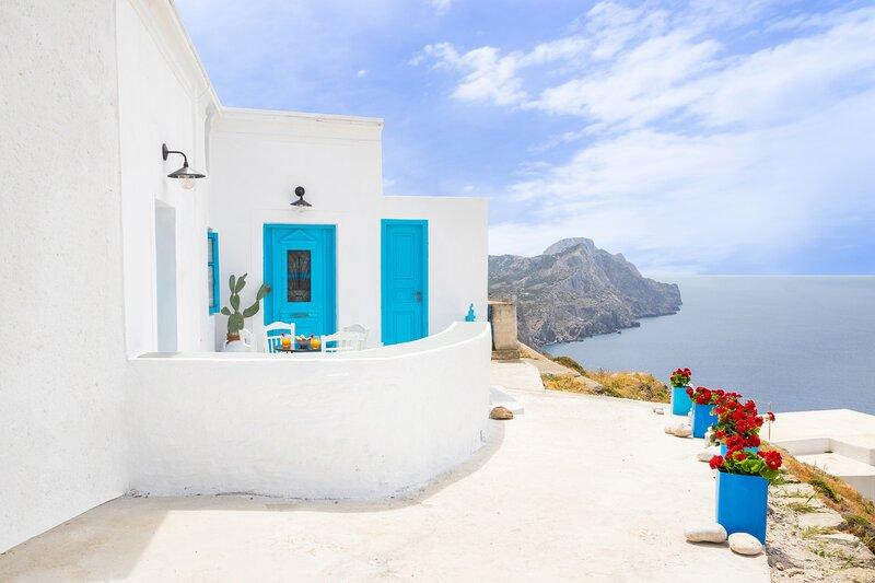 Nacros Villa Olympos, Karpathos, location de vacances à Olympos