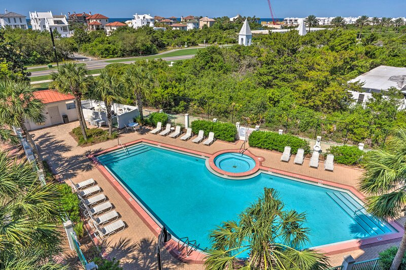 NEW! Ocean View Condo Btwn Rosemary & Alys Beach!, holiday rental in Seacrest Beach